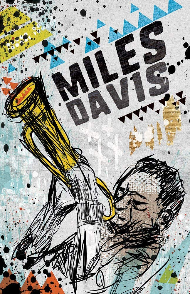 Miles Davis - Pop Art Poster / Wall Art / Limited Edition of 100 / Jazz Icon / Trumpet / Illustration