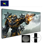XY Factory Promotion Product Good Price 60inch PET Crytal Daylight Projection Screen with Narrow Frame for UST Projector