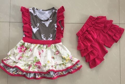 Baby Girl Clothing Dresses For Kids Red Printed Dress Valentine Day