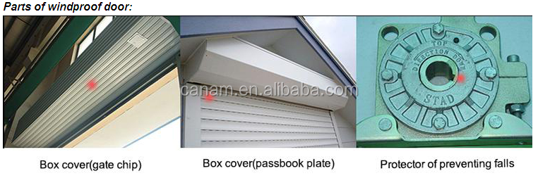 High speed industrial vertical roller shutter anti-wind door