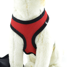 2016 Adjustable Dog Harness Nylon Mesh Vest Soft Comfort Harness Dogs Puppy Cat Collar Pets Chest Strap Leash XS-XL