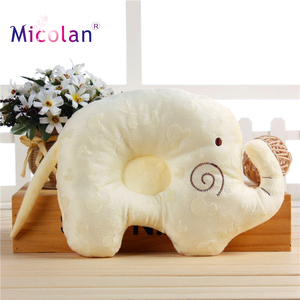 Organic Cotton Animal Shaped Baby Protective Sleeping Pillow From Newborn Prevent From Baby Flat Head Shaping Pillow