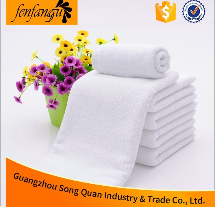 40*80 Cheap Customized Embroidery Plain White 100% Cotton Small Used Hotel Hand Towels Size