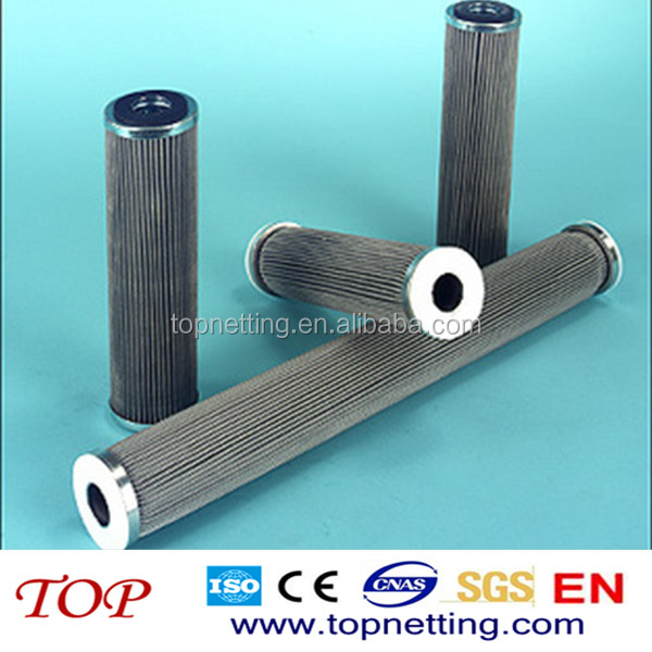 stainless steel end cap cylinder pleated dust / powder filter cartridges