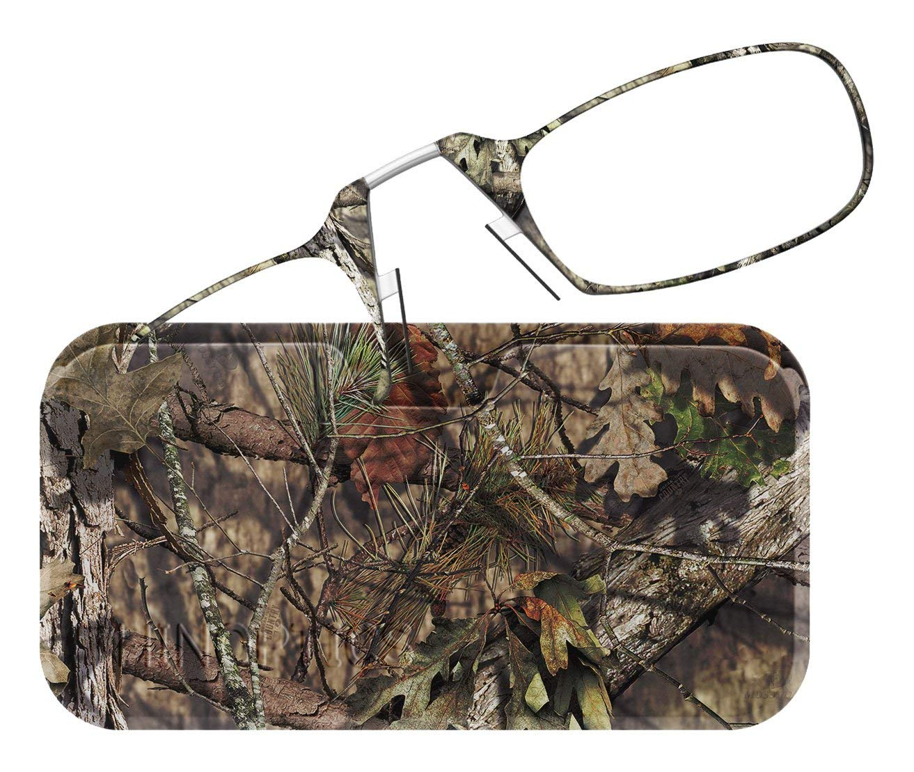 67d0a7605bb1 Get Quotations · ThinOptics Reading Glasses + Universal Pod Case |  Camouflage Collection, Mossy Oak Break-Up