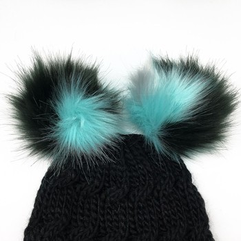 Fluffy Faux Racoon Fur Ball Pom Poms Clip for Ladies Beanie Hat Accessories 71fe49e5b