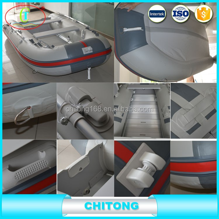 Inflatable Portable Rowing Boat Fly Fish Boat In Coastal Place