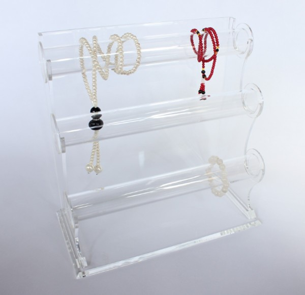 Triple Tier Necklace Jewelry Bangle Bracelet Organizer Holder Display Stand,Clear Acrylic Jewelry Stands For Necklaces Wholesale