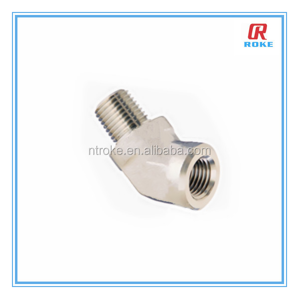 45 degree elbow stainless steel pipe adapter