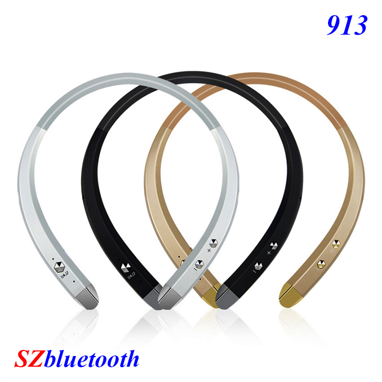 Best selling 913 V4.0 stereo neckband headphones wireless bluetooth headset