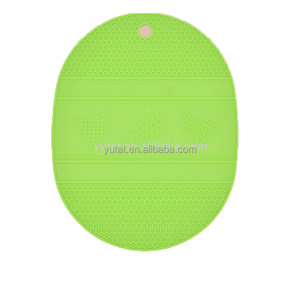 Green Heat Resistant Pad Coaster Mat Silicone Pot Holder Placemat