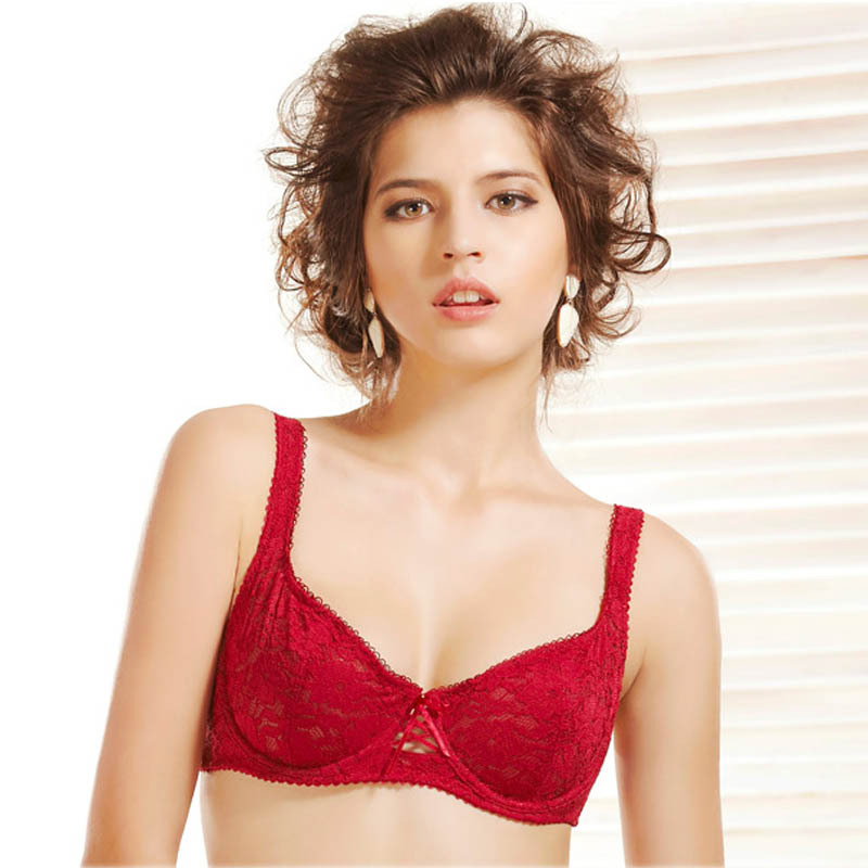 d4961b7a51aa9 Get Quotations · 2015 hot sale lace lingerie blue pink red ultra thin bra  top sutyen bras for women