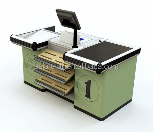 America popular retail checkout counters/modern shop counter design for supermarket