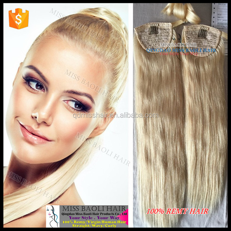 Wholesale Factory Price 2016 Best Selling 26 Inch Brazilian Remy Human Hair Ponytail