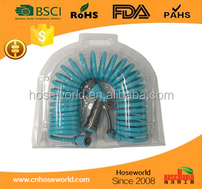 7.5m coil hose with 6 funcation spray gun