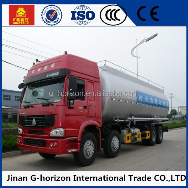 Powderred Material Transport Tank Trucks ISO 20' Bulk Cement Storage Tanker With Diesel