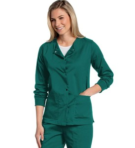 Long sleeves medical scrub suits in healthcare uniforms designs