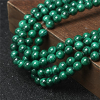 4-14mm Wholesale Natural AAA Green Malachite Gemstone Loose Beads For Jewelry Making