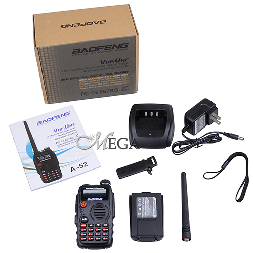 A52 Baofeng vhf/uhf dual band walkie talkie with program keyboard transceiver Dual watch/dual reception 2 way radio