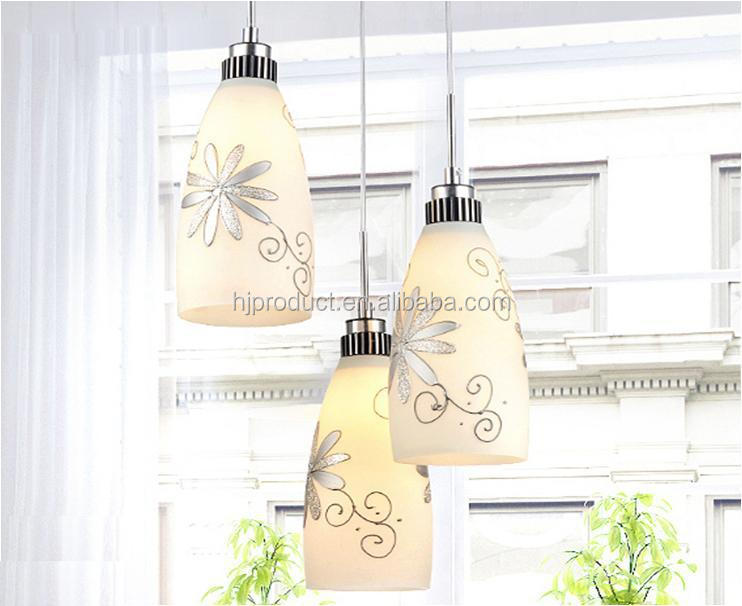 Modern Pendant Light Covers,Indoor Lamp Shade,Three Lights Glass ...