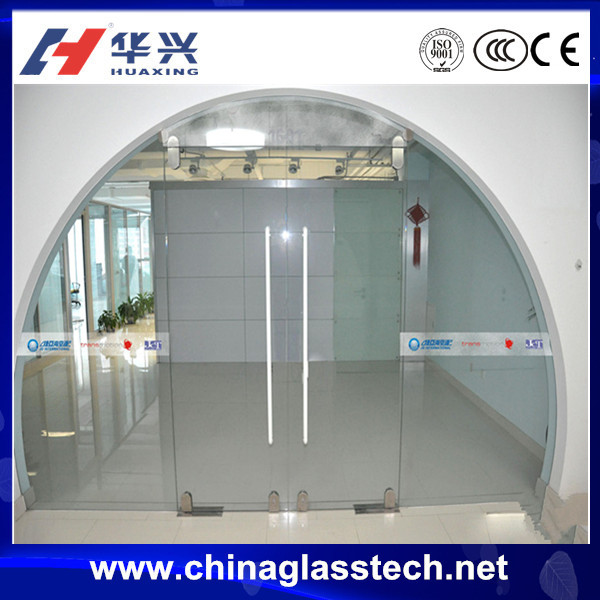 CE certificate decorative clear glass aluminum round top exterior entry door