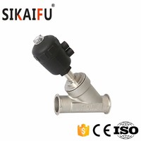 Stainless Steel 304 Quick Install Pneumatic 45 degree Industry Angle Valve Supplier