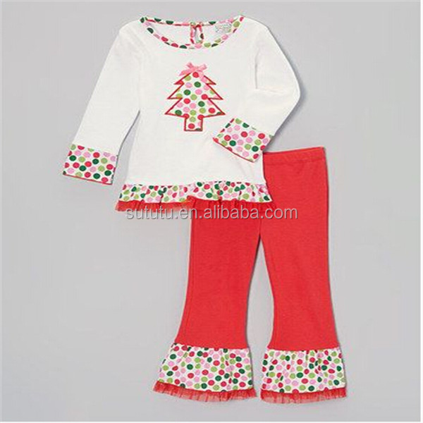 19b54554fa1a 2014 Fashion Baby Girl Christmas Outfit Fancy Western Girls Outfit  Wholesale Boutique Clothing