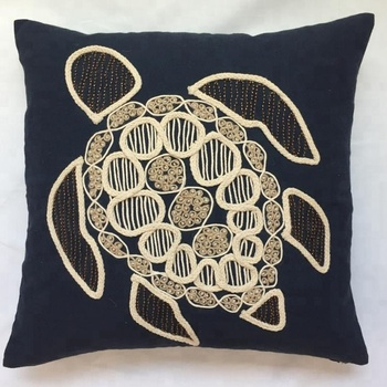 Handcraft Rope embroidery and beading embroidery decorative Pillow