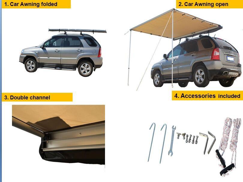 4x4 Sandbeach Heat Proof And Uv Proof Car Side Awning Tent