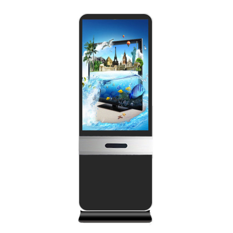 43 inch LCD advertising player floor standing touchscreen kiosk photo booth with printer