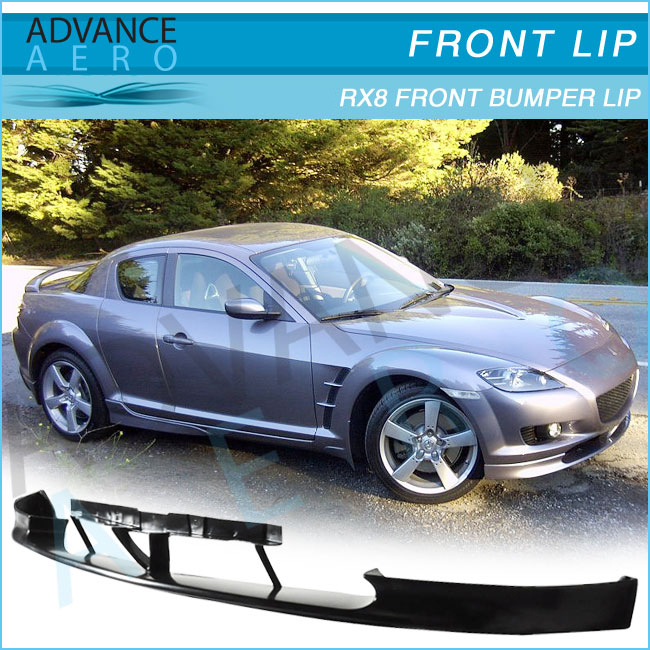 04 05 06 07 08 MAZDA RX8 SPORT PU BLACK ADD-ON FRONT BUMPER LIP SPOILER CHIN