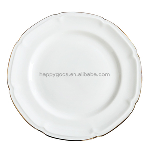 wholesale dinner plate Food safe hotel used dinner plates microwave safe plate