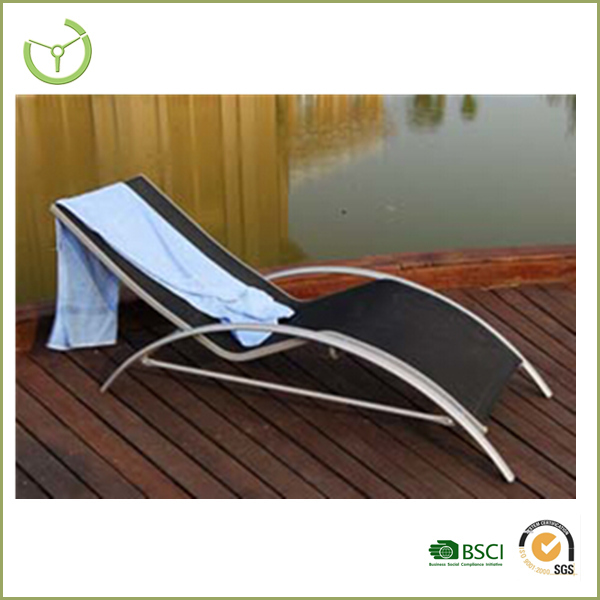 2015 Chaise Lounge  Aluminium Sun Lounger With Adjustable Back