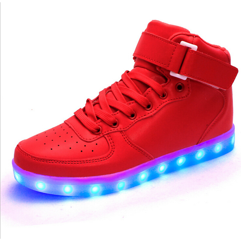 Unisex Light Flashing LED Shoes Sneakers 2016,Casual Usb Charge Led Light Up Vietnam Women Shoes
