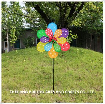 China Rainbow Flower Petal Ornamental Garden Windmill