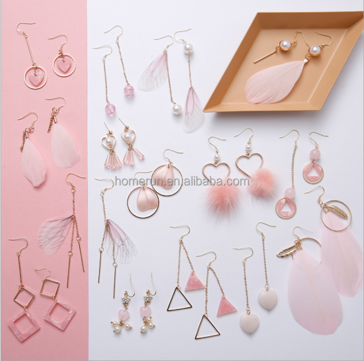 New style hot asle and sweet creative earrings fashion pink girl earrings fairy earrings