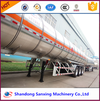 30~60CBM Liquid Fuel Cooking Diesel Crude Aluminium Alloy Tanker Trailer