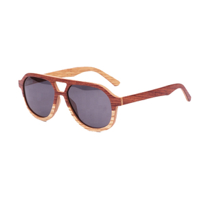 china hand polished zebra spring hinge wood sunglasses 2018