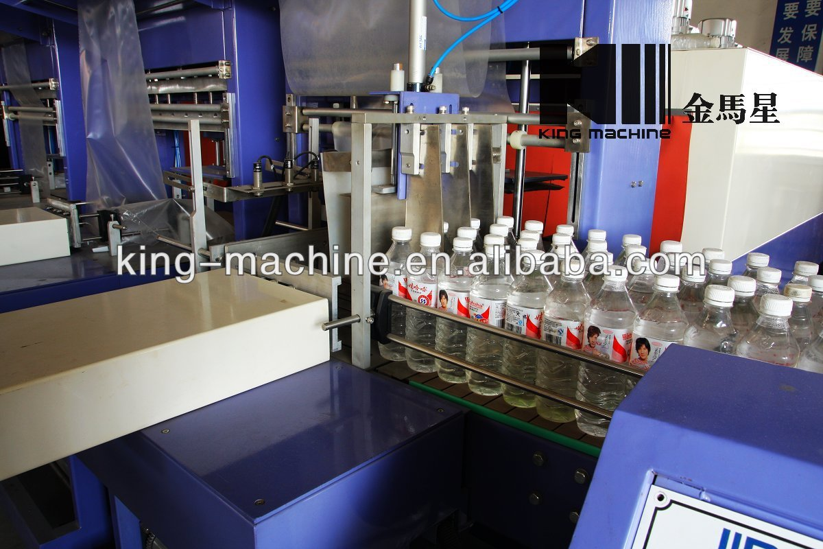 Automatic PE Film Bottle Heat Shrink Packing Facility / Facilities / Apparatus KINGMACHINE