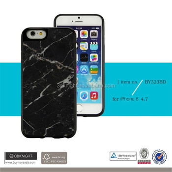 3D Knight Latest Design High Quality TPU Natural Marble Stone Thinnest Marble for iPhone 6s Case
