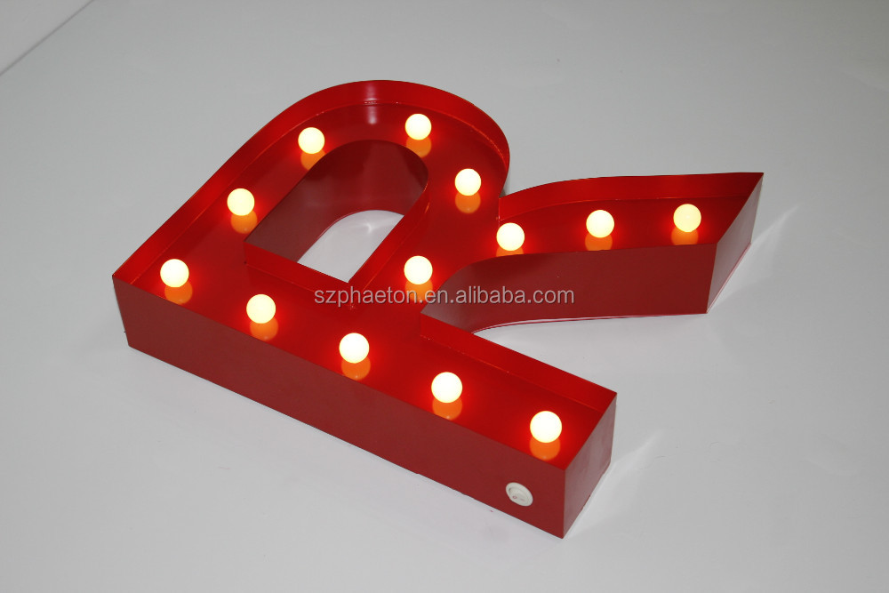 Home party decoration battery operated marquee letter lights