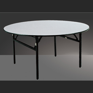 Heavy-duty Restaurant Furniture/PVC Folding Tables Wedding Event Advertising Banquet Round Table chairs On Sale
