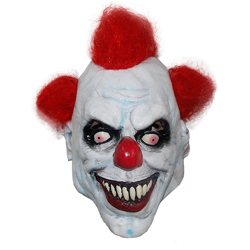 X-merry Toy Joker Clown Mask Halloween Mascaras Terror Latex Clown ...