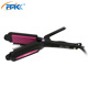 Professional intertek Interchangeable hair crimper pink hair flat iron for volume and straight hair