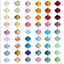 U Choice 100pcs 4mm Bicone Austria Crystal Beads charm Glass Beads Loose Spacer Bead for DIY Jewelry Making