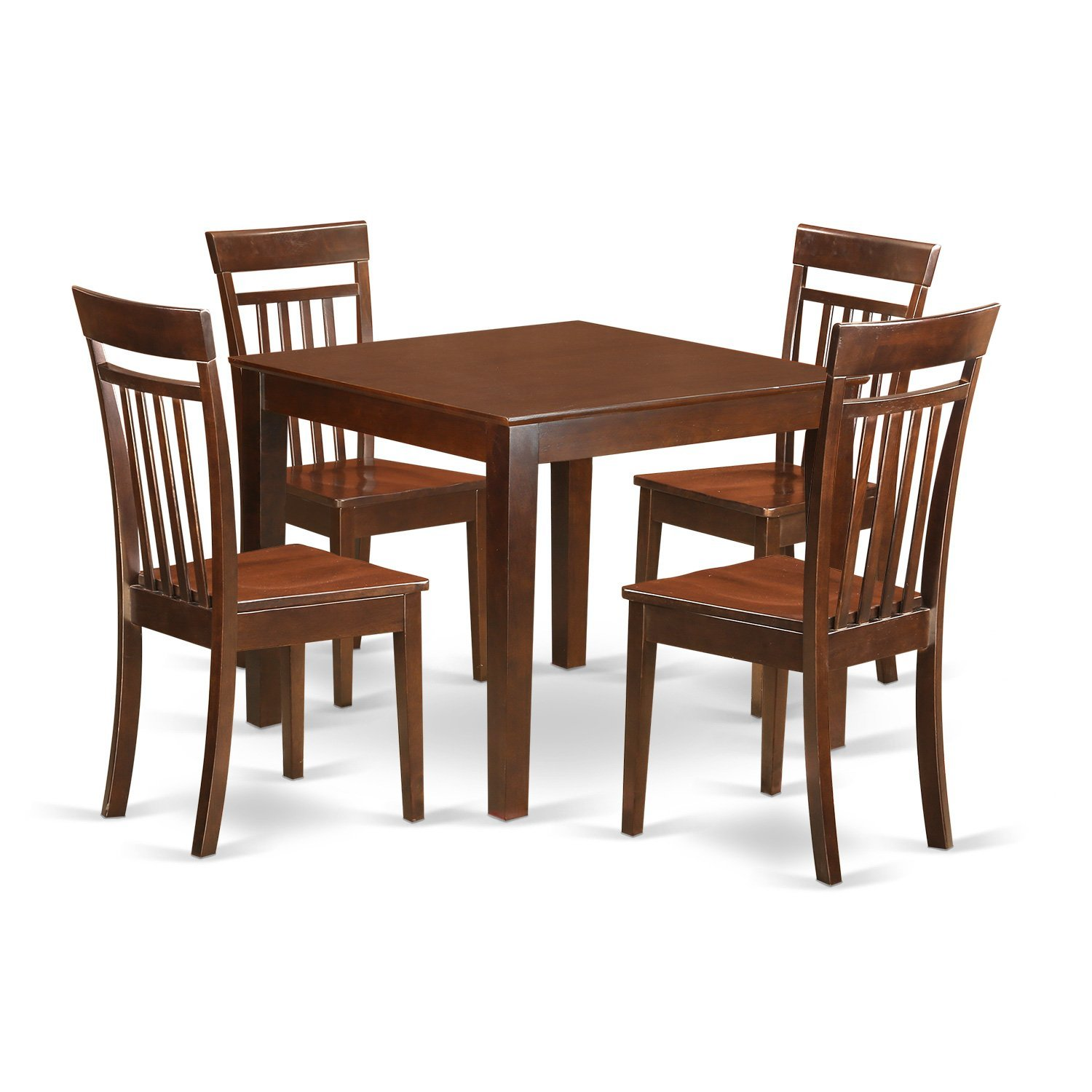 Get Quotations · East West Furniture OXCA5 MAH W 5Piece Small Kitchen Table  Set With One Oxford