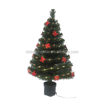 outdoor decoration fiber optic christmas tree stand