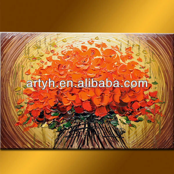 Hot Sell simple flower oil painting