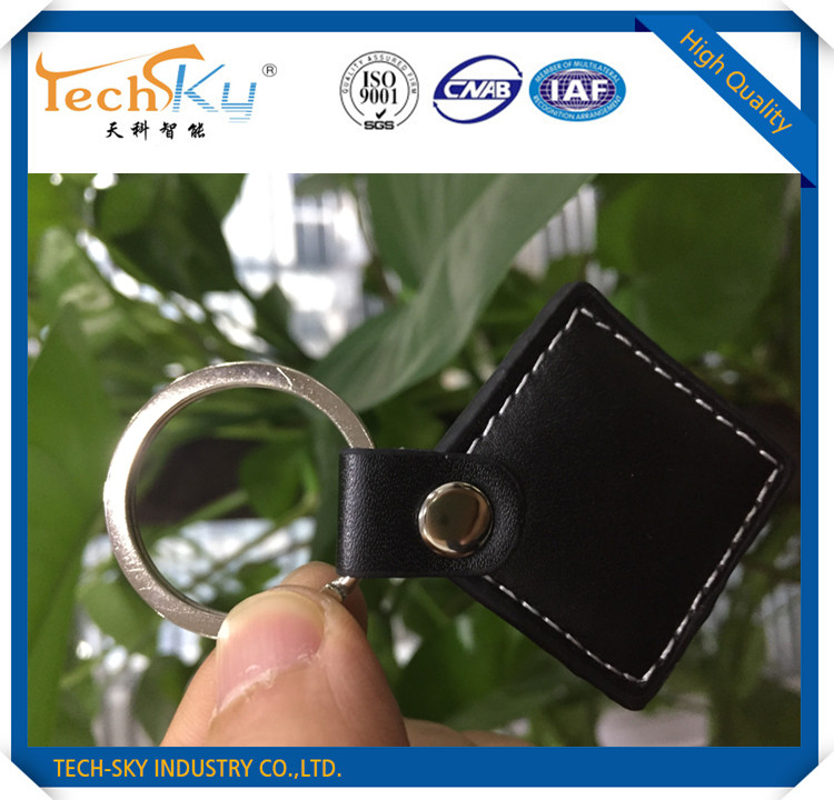 leather Hotel Keyfob EM4100 RFID 125 KHz leather ID Card for Access Control ID smart car Keys