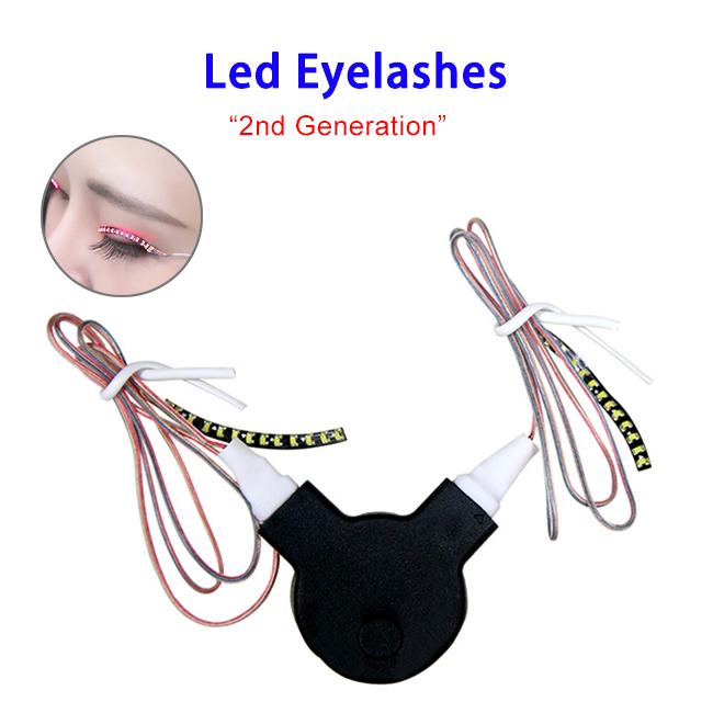 Voice Controlled Party Night Club Shiny Fake LED Eyelashes False Eye Lashes